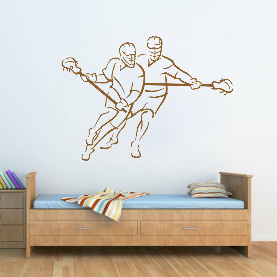 ik876 Wall Decal Sticker lacrosse helmet sport room teens kids teen bedroom