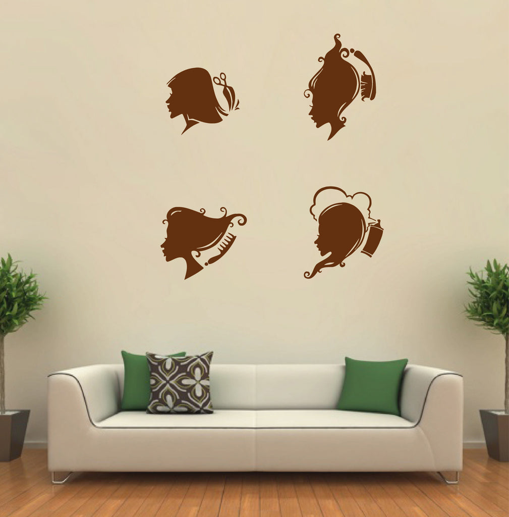 ik887 Wall Decal Sticker hair salon barber shop styling hair Reception hall