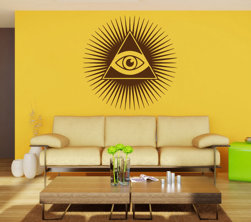 ik897 Wall Decal Sticker all seeing eye symbol bedroom