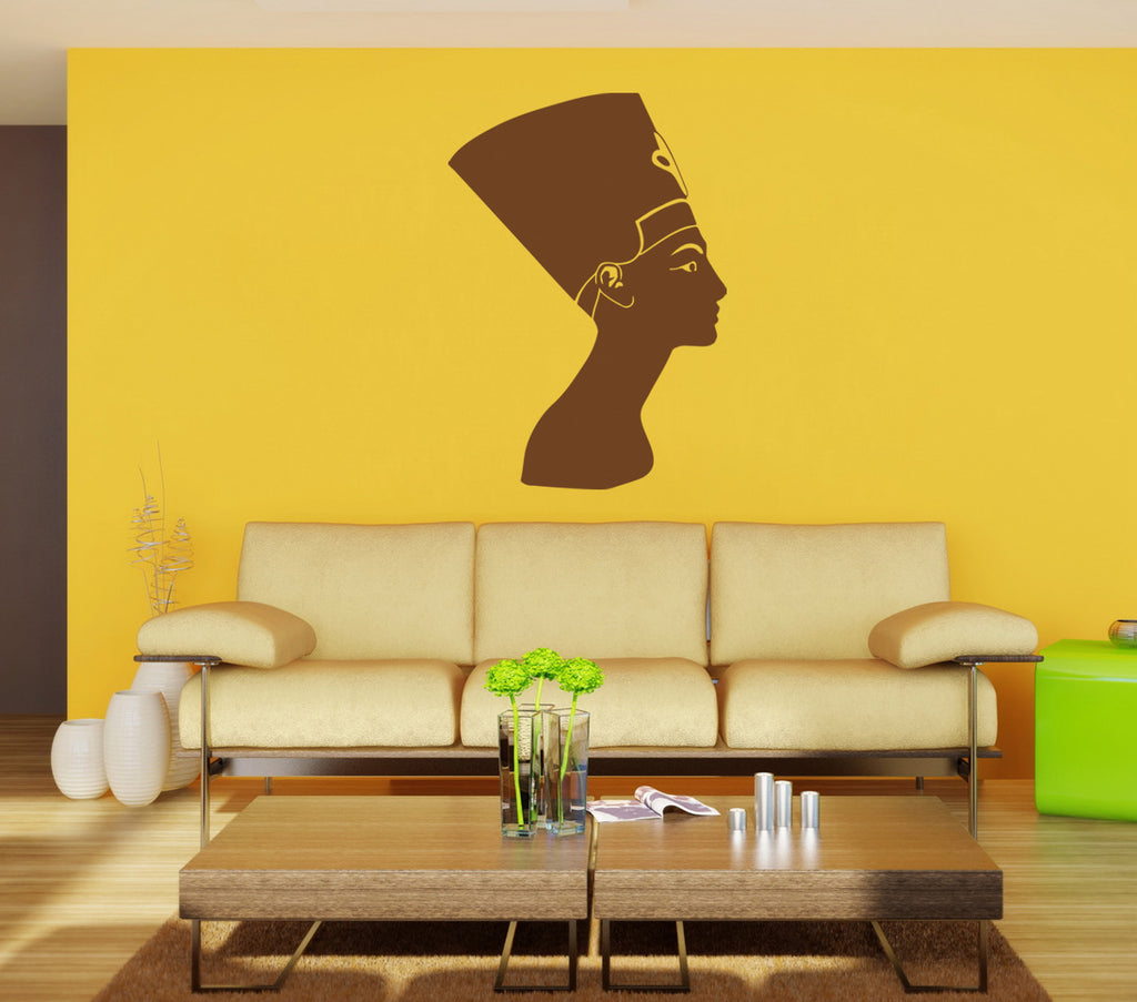 ik898 Wall Decal Sticker Egyptian queen Nefertiti bedroom