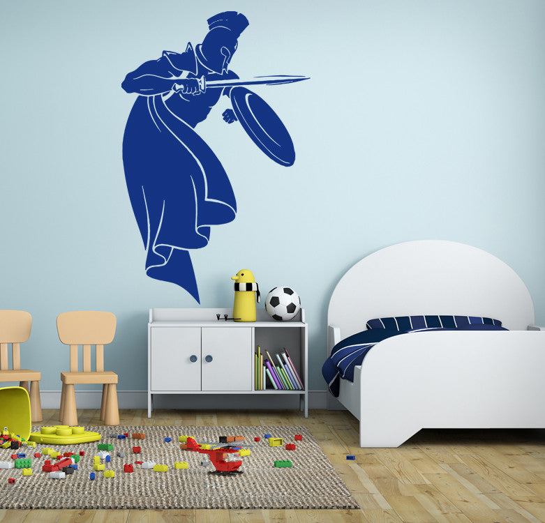 ik907 Wall Decal Sticker Sparta Spartan legionary kids bedroom