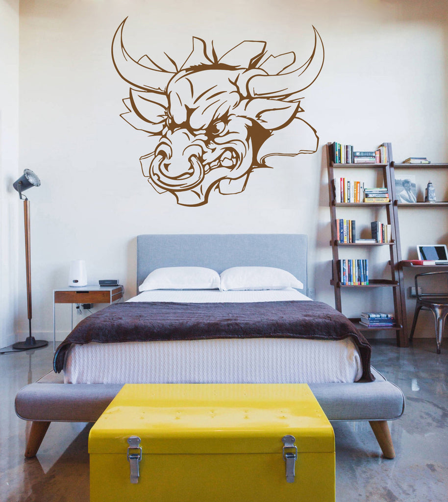 ik910 Wall Decal Sticker bull rushes out children's bedroom