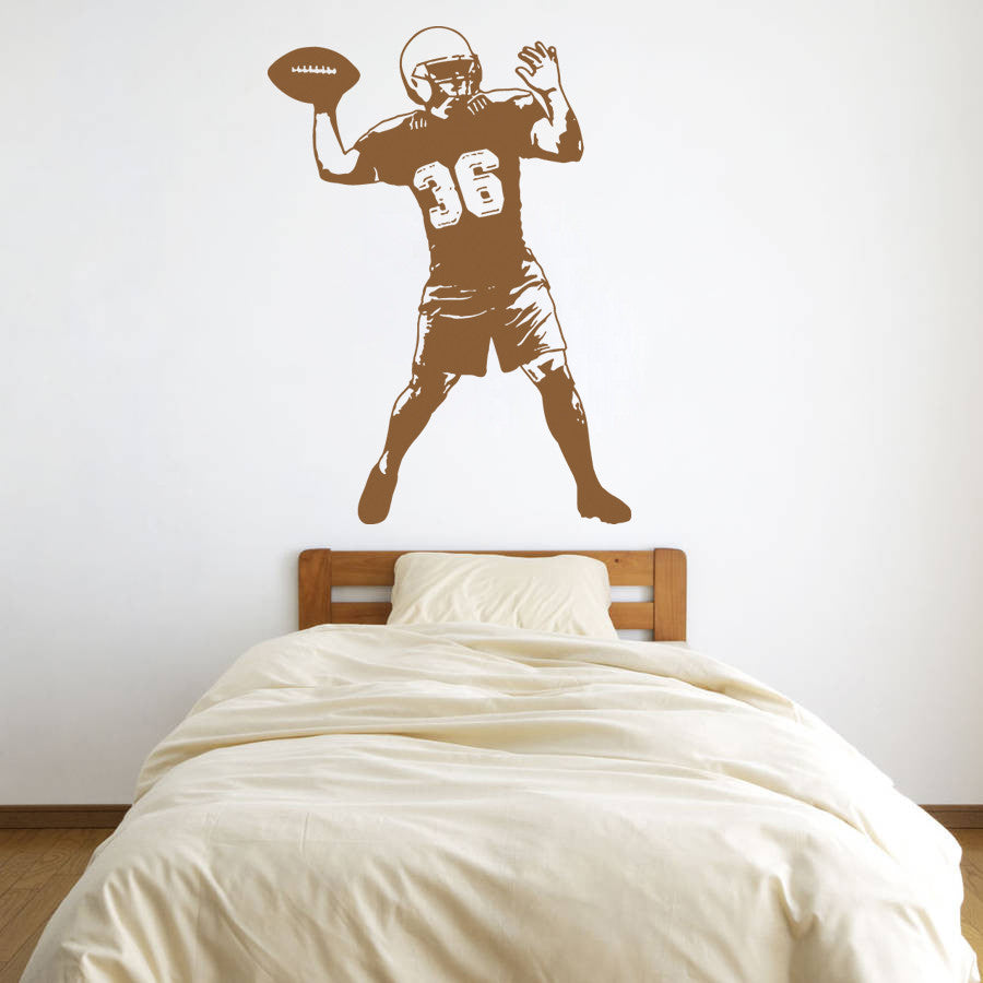 ik912 Wall Decal Sticker Rugby Football Sports living children's bedroom