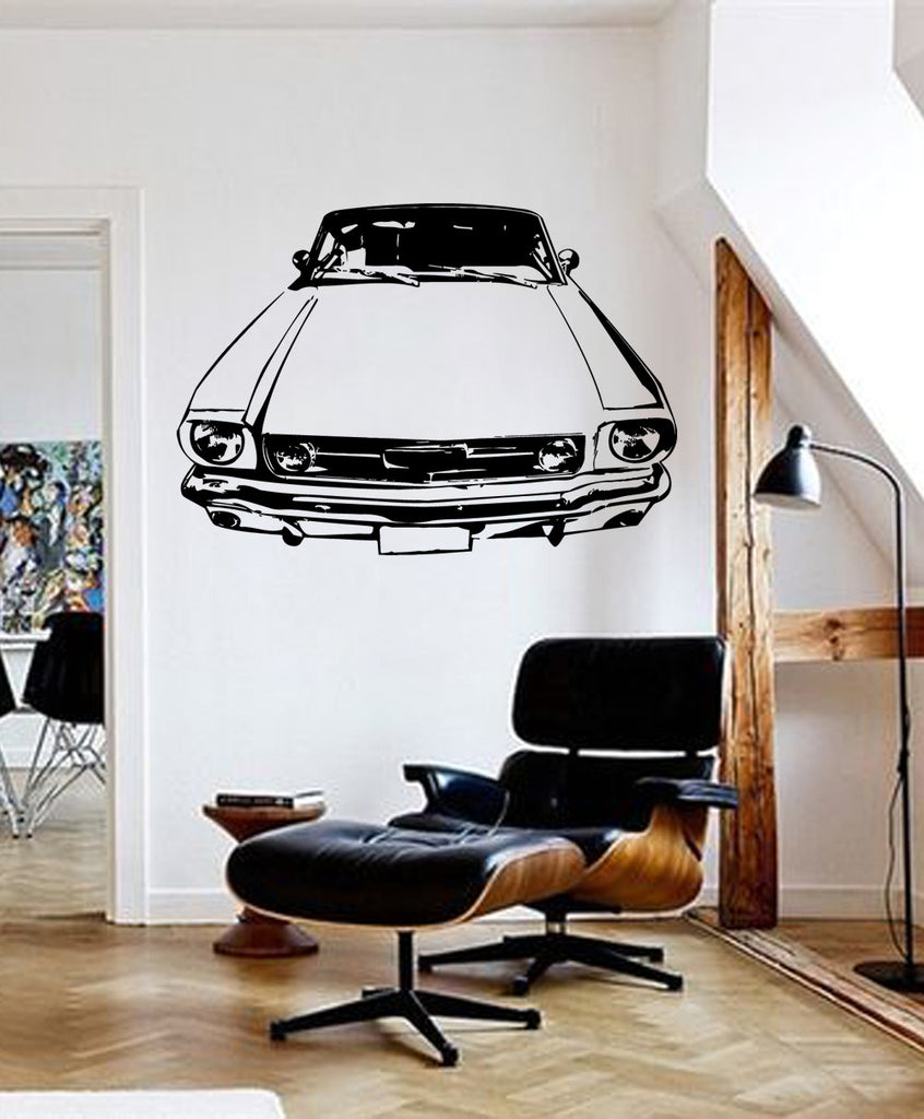 ik920 Wall Decal Sticker hot rod retro American cars bedroom