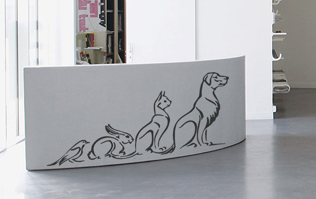 ik938 Wall Decal Sticker pets cat dog rabbit parrot veterinary clinic shelter