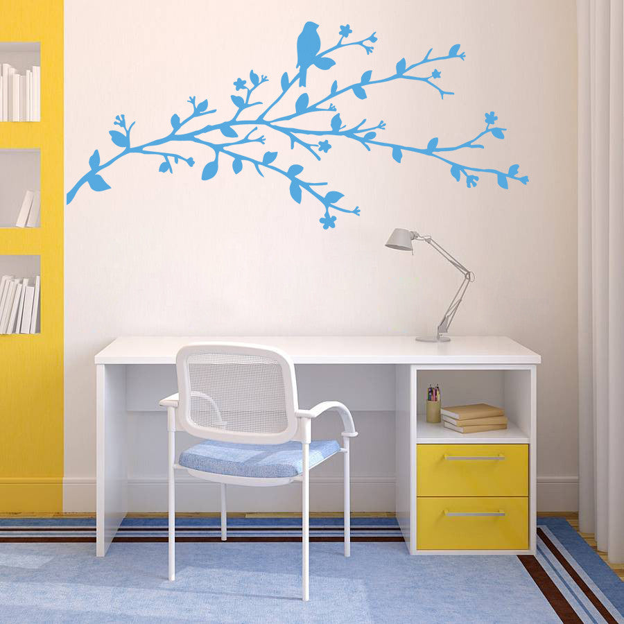 ik947 Wall Decal Sticker tree branch bird children's bedroom