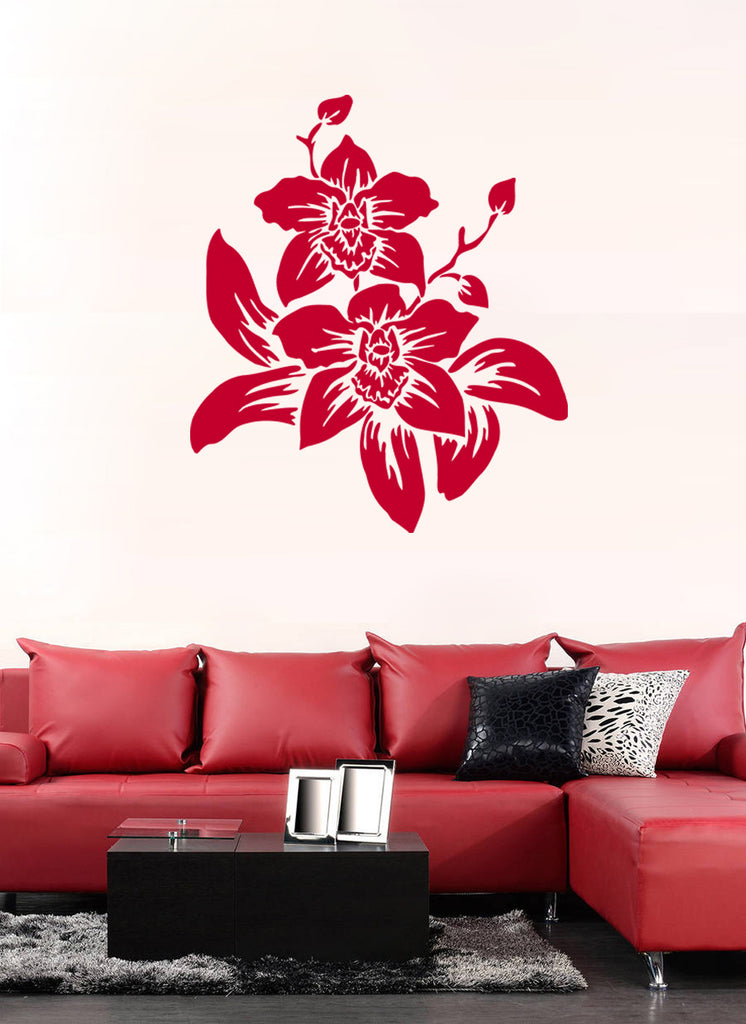 ik950 Wall Decal Sticker Beautiful flower orchid tropical plant living bedroom