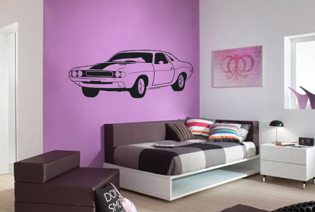 ik960 Wall Decal Sticker challenger powerful American car retro living bedroom