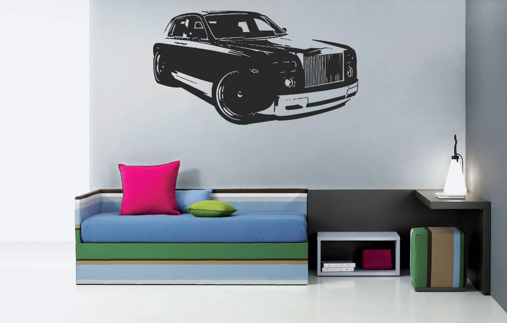 ik961 Wall Decal Sticker Rolls-Rolls British luxury car bedroom