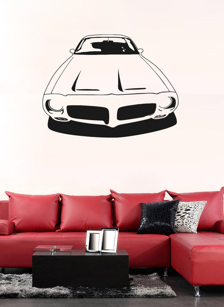 ik962 Wall Decal Sticker American hotrod retro car powerful bedroom