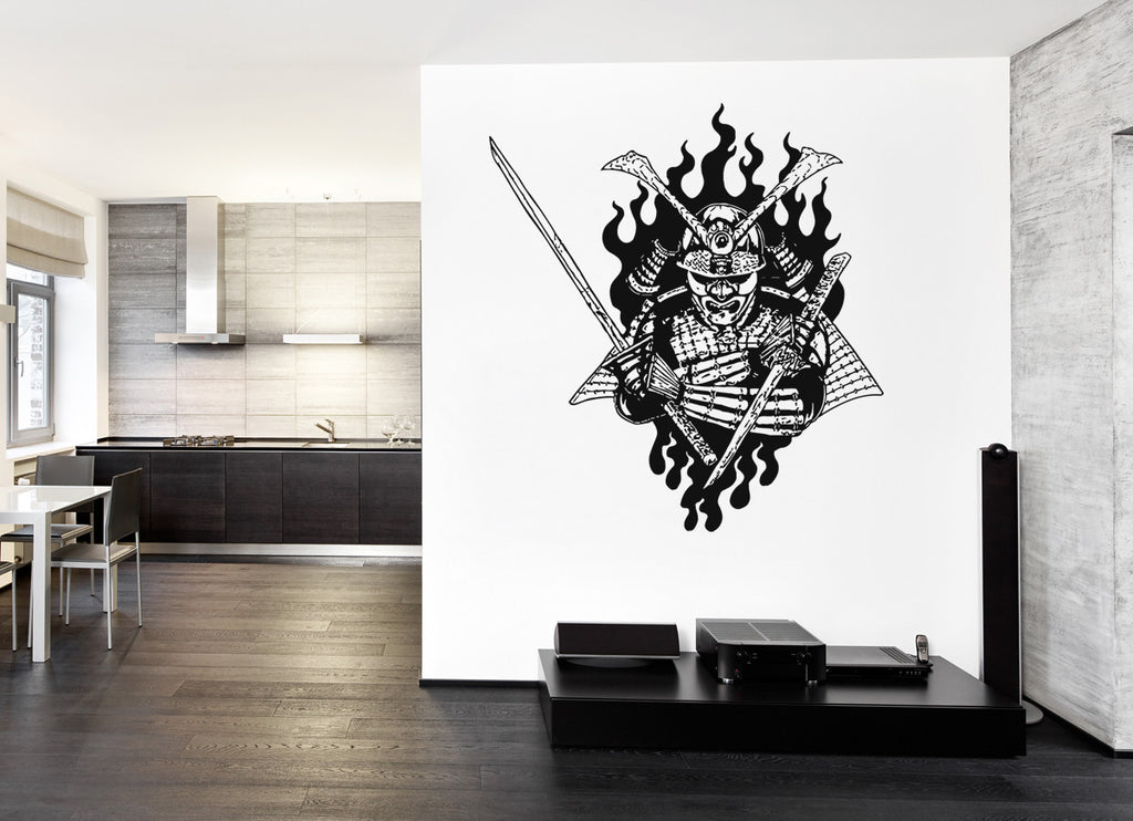 ik973 Wall Decal Sticker Samurai warrior fighter bedroom