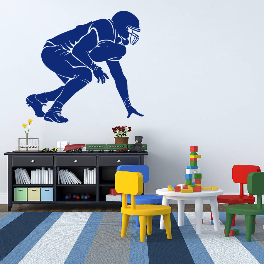 ik975 Wall Decal Sticker American rugby sports team game football kids bedroom
