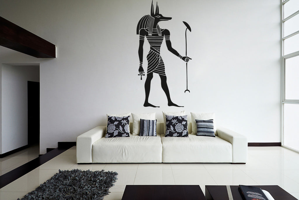 ik994 Wall Decal Sticker egyptian god anubis protector dead Egypt bedroom