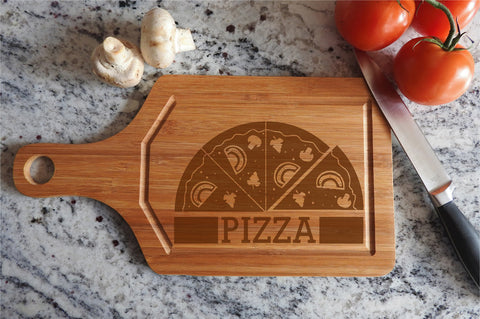 ikb13 Personalized Cutting Board Wood food pizza pizzeria kitchen