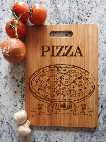 ikb14 Personalized Cutting Board Wood food pizza pizzeria kitchen