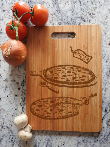 ikb15 Personalized Cutting Board Wood food pizza pizzeria kitchen