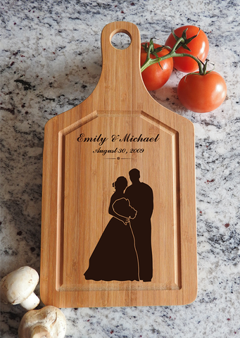 ikb620 Personalized Cutting Board just married wedding gift wedding wooden