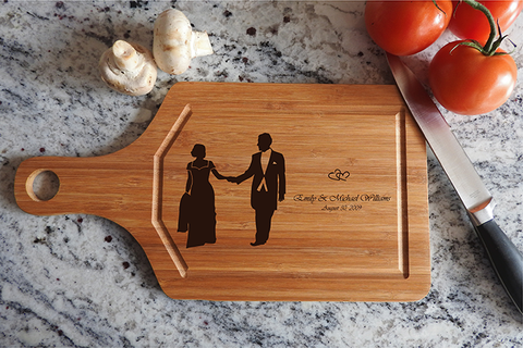 ikb623 Personalized Cutting Board just married wedding gift wedding wooden