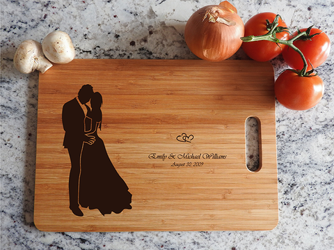 ikb624 Personalized Cutting Board just married wedding gift wedding wooden