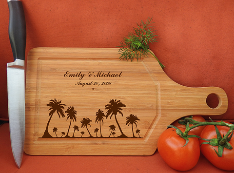 ikb627 Personalized Cutting Board hawaii island honeymoon wedding anniversary gift