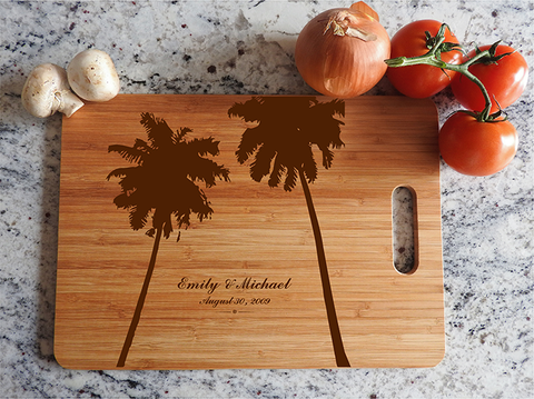 ikb628 Personalized Cutting Board hawaii island honeymoon wedding anniversary gift