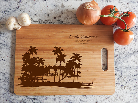 ikb629 Personalized Cutting Board Costa Rica honeymoon island wedding anniversary gift