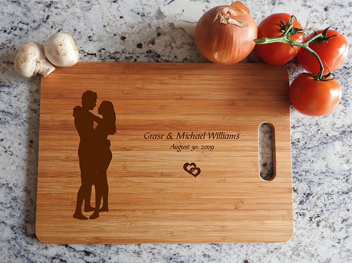 ikb634 Personalized Cutting Board lovers wedding gift anniversary