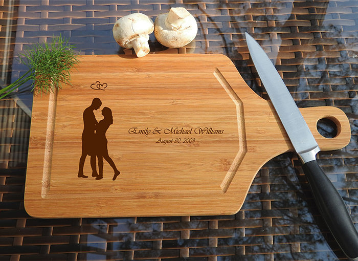ikb635 Personalized Cutting Board lovers wedding gift anniversary
