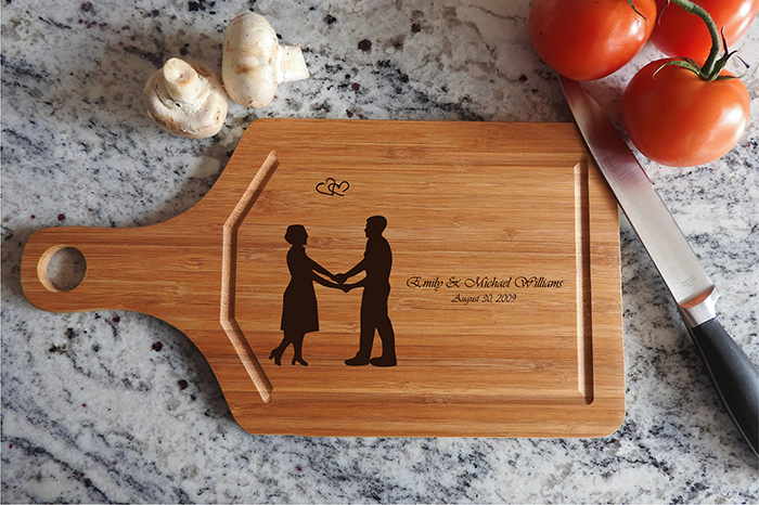ikb636 Personalized Cutting Board lovers wedding gift anniversary