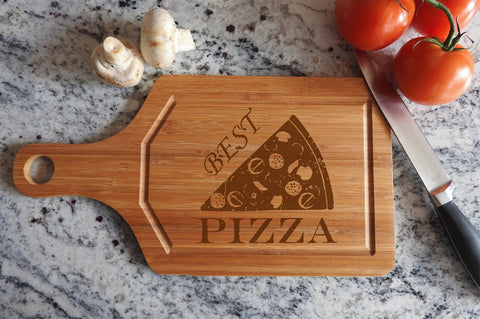 ikb6 Personalized Cutting Board Wood Pizza Italian food kitchen pizzeria