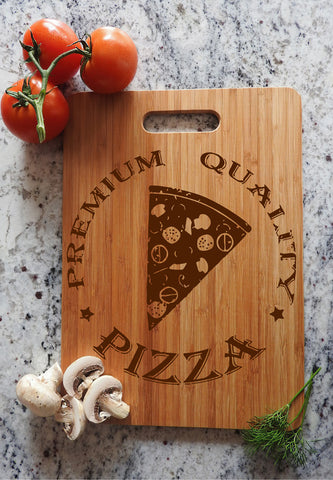 ikb7 Personalized Cutting Board Wood Pizza Italian food kitchen pizzeria