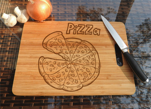 ikb8 Personalized Cutting Board Wood Pizza Italian food kitchen pizzeria