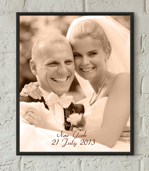 3rd ANNIVERSARY GIFT Photo Engraved in real LEATHER - Leather Anniversary Gift for Her Wedding Photo Anniversary Gift Third Anniversary