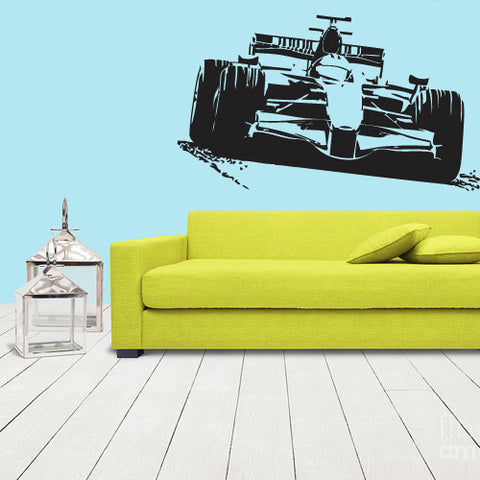 Wall Vinyl Decal Sticker Bedroom Formula 1 Sport Car Racing  z1118