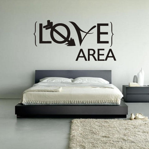 Wall Vinyl Decal Sticker Words Sign Quote Lettering Love Area  z1156