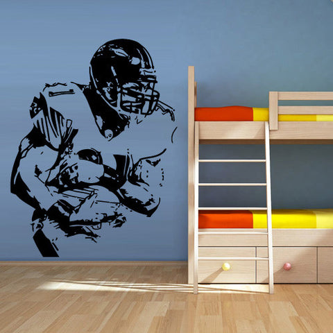 Wall Decal Vinyl Decal Sticker Decals Football Rugby Sport Helmet Man  z1312