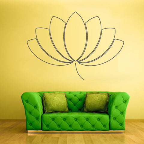 Wall Decal Vinyl Decal Sticker Decals Hindu Lotos Yoga Indian Flower  z1357