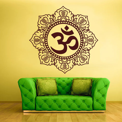 Wall Decal Vinyl Decal Sticker Decals Hindu Om Symbol Buddha Indian Word  z1365