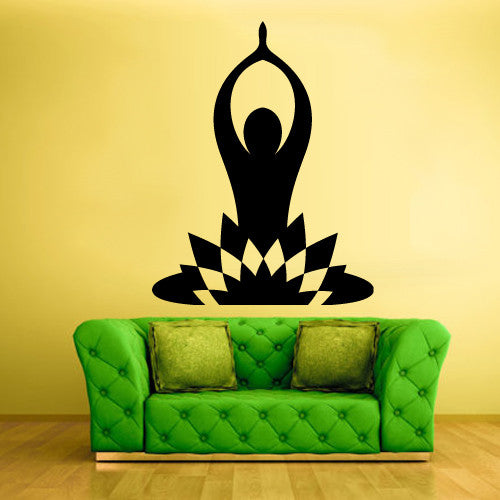 Wall Decal Vinyl Decal Sticker Decals Yoga Symbol Lotos Indian  z1437