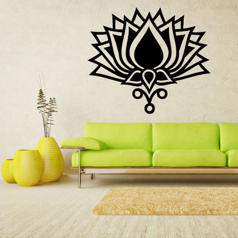 Wall Decal Vinyl Decal Sticker Decals Flower Yoga Lotos Modern Fashion  z1446