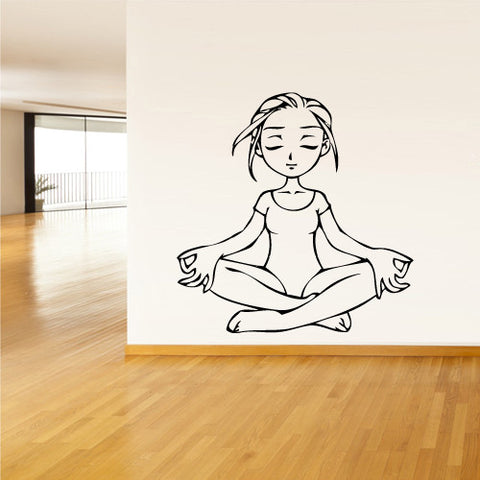 Wall Decal Vinyl Decal Sticker Decals Yoga Girl Relax Lotos Om  z1463