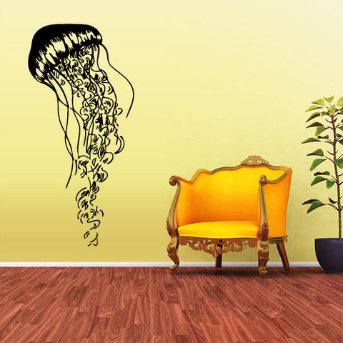 Wall Vinyl Decal Sticker Decals Jellyfish Octopus Deep Ocean Scuba Tentacles  z1590