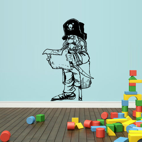 Wall Decal Vinyl Decal Sticker Bedroom Nursery Kids Baby Ocean Sea Pirate Map  z1736