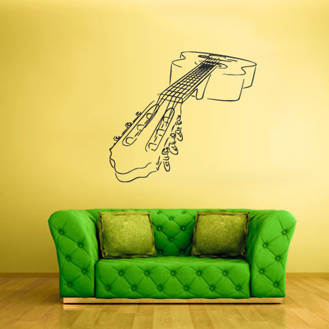 Wall Vinyl Decal Sticker Bedroom Decal Guitar Cyrcles Music Acoustic Poster  z1796