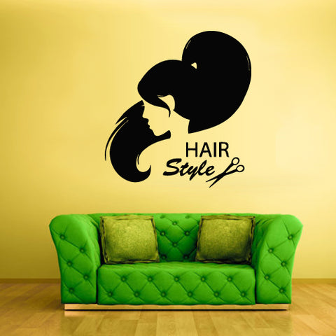 Wall Vinyl Decal Sticker Decals Haircut Salon Scissors Style Hair Fashion Girl  z1834