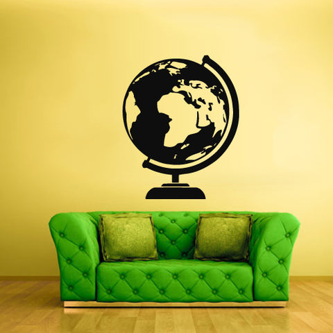 Wall Vinyl Decal Sticker Bedroom Kids Decal Earth Globe City Town Map Poster  z1898