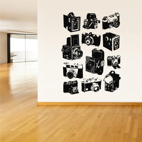 Wall Decal Vinyl Decal Sticker Photo Camera Studio Salon Retro Poster  z2127