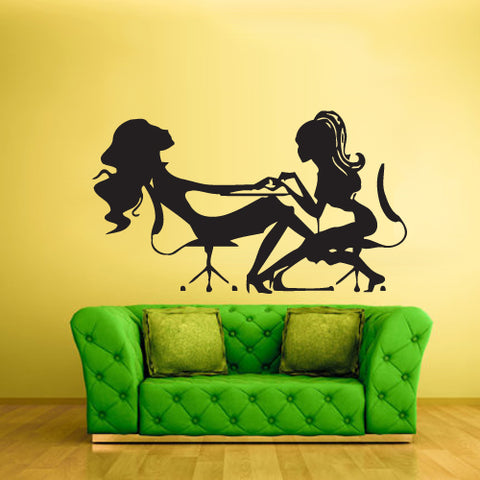 Wall Decal Vinyl Decal Sticker Girls Table Maniqure Relax Fashion Salon Hair  z2204