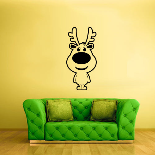 Wall Vinyl Decal Sticker Fairy Baby Nursery Kids Christmas Happy New Year Santa Elk Deer Magic  z2222