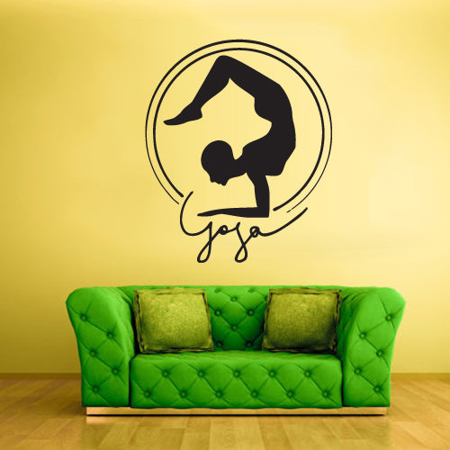 Wall Decal Vinyl Decal Sticker Decals Yoga Pose Men Symbol Indian Training  z2252